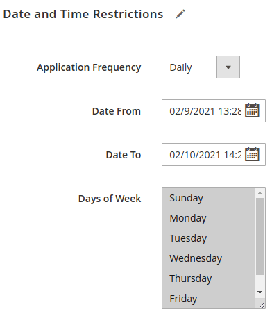 Block 8 of Date and Time Restrictions